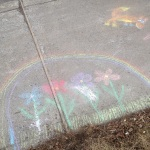 Neighborhood chalk drawings.